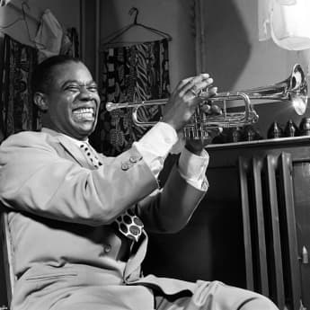 Louis Armstrong in March 1950