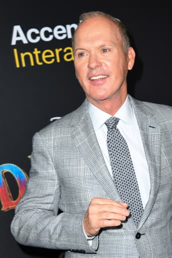 """US actor Michael Keaton arrives for the world premiere of Disney's """"Dumbo"""" at El Capitan theatre on March 11, 2019 in Hollywood."""