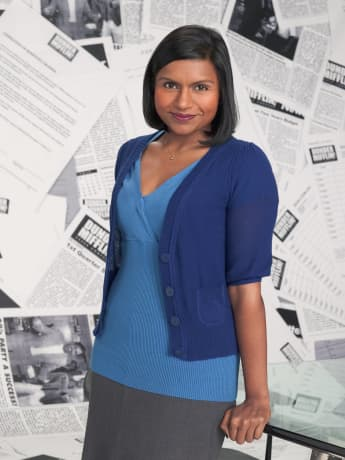 "Mindy Kaling starred as ""Kelly Kapoor in the ""The Office"""