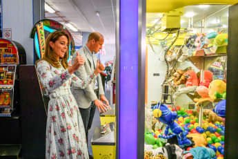 Prince William & Duchess Kate Visit Arcade In First Joint Engagement