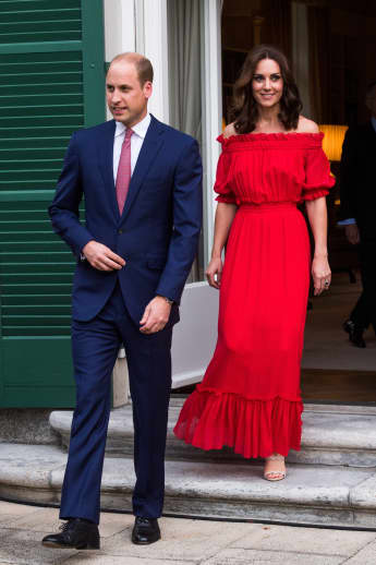Prince William and Duchess Catherine on their European tour