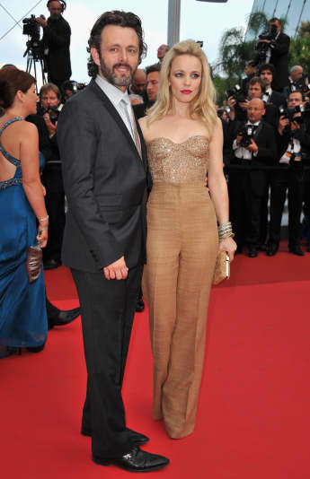 Actress Rachel McAdams and Michael Sheen arrive at the 'Sleeping Beauty' premiere during the 64th Annual Cannes Film Festival, 2011.