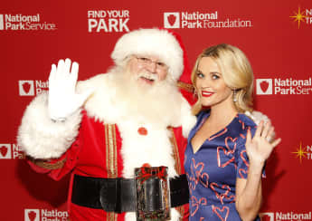 Reese Witherspoon with Santa Claus