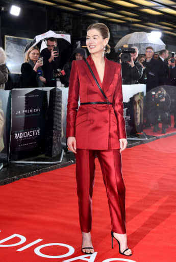 "Rosamund Pike attends the ""Radioactive"" UK Premiere."