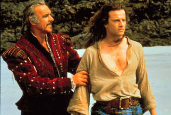 "Sean Connery and Christopher Lambert in ""Highlander"""