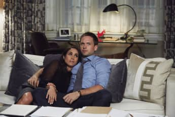 "Meghan Markle ""Rachel"" and Patrick J. Adams ""Mike"" in the legal series, 'Suits'."