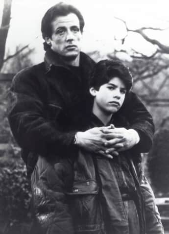 "Sylvester and Sage Stallone in ""Rocky V"""