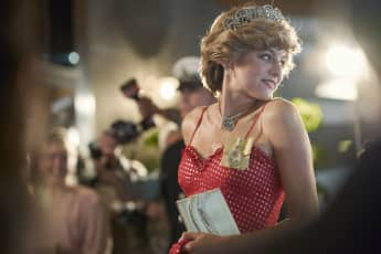 Emma Corrin in a scene from the series 'The Crown'