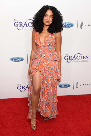 Aisha Dee at the 44th Annual Gracies Awards, hosted by The Alliance for Women in Media Foundation on May 21, 2019