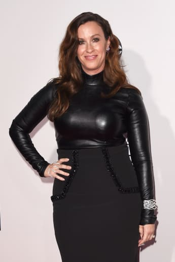 Alanis Morissette attends the 2015 American Music Awards