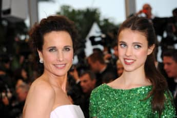 Andie MacDowell with her daughter Margaret Qualley at the Cannes Film Festival.