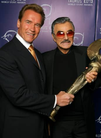 Arnold Schwarzenegger and Burt Reynolds