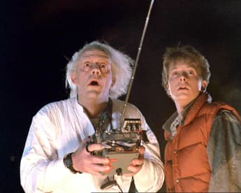 """'Back to the Future': Instagram reunion for """"Marty McFly"""" and """"Doc Brown""""."""