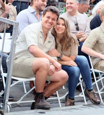 Bindi Irwin And Chandler Powell Thank Russell Crowe For Wedding Gift On His Birthday