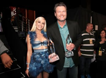 Gwen Stefani and Blake Shelton talk about their new family Thanksgiving traditions!