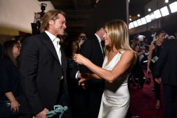 Watch Brad Pitt's Adorable Reaction to Jennifer Aniston's acceptance speech at the 2020 SAG Awards