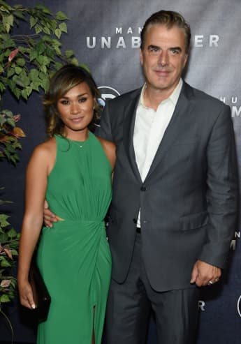 "Tara Wilson and Chris Noth attend the Discovery's ""Manhunt: Unabomber"" World Premiere at the Appel Room at Jazz at Lincoln Center Frederick P. Rose Hall on July 19, 2017"
