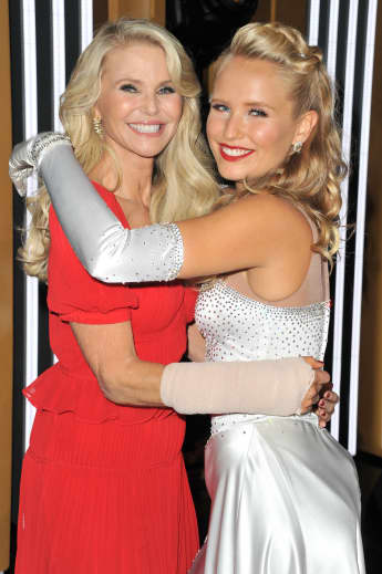 Christie Brinkley and Sailor Lee Brinkley-Cook attend the Dancing With The Stars Season 28 show at CBS Television City on September 16, 2019