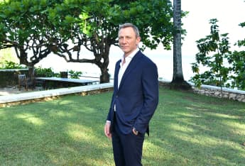 Daniel Craig in Jamaica in April 2019