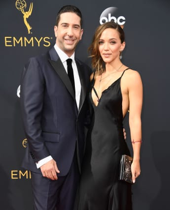 This is David Schwimmer's wife Zoe Buckman.