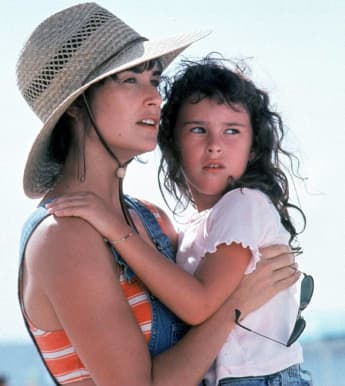 Demi Moore and Rumer Willis in the film 'Striptease'