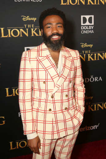 Donald Glover at the world premiere of The Lion King