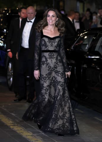 Catherine, Duchess of Cambridge attend the Royal Variety Performance at the Palladium Theatre on November 18, 2019