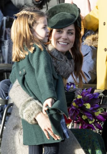 Princess Charlotte and Duchess Catherine were all smiles on Christmas Day.