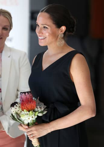 Duchess of Sussex speaks with 12 inspiring female entrepreneurs as she visits Woodstock Exchange during her royal tour of South Africa on September 25, 2019 in Cape Town, South Africa.