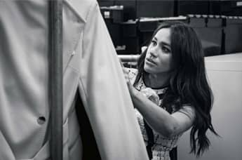 Duchess of Sussex, Patron of Smart Works, in the workroom of the Smart Works London office.