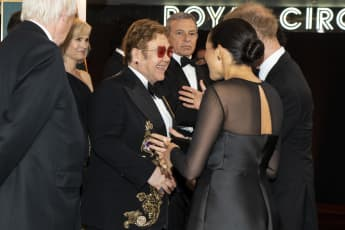 Elton John, Prince Harry and Duchess Meghan