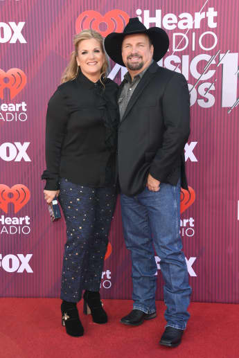 Trisha Yearwood and Garth Brooks attend the 2019 iHeartRadio Music Awards on March 14, 2019 in Los Angeles, California.