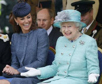 Duchess Catherine and Queen Elizabeth II