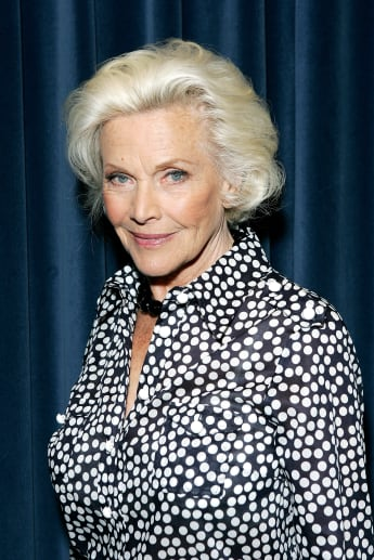 Honor Blackman poses for a photograph whilst recording her single 'The Star Who Fell From Grace' at Angel Studios on May 15, 2008 in London, England.