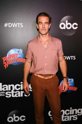 James Van Der Beek arrives at the 2019 Dancing With The Stars Cast Reveal at Planet Hollywood Times Square on August 21, 2019 in New York City
