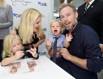 Jessica Simpson, Eric Johnson and their two kids