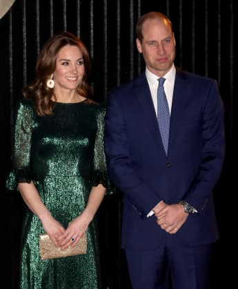 Kate Middleton Glitters in Green at Guinness Storehouse in Dublin With Prince William