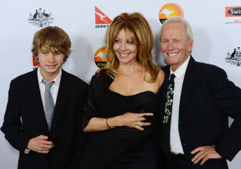 Paul Hogan, Linda Kozlowski and their son Chance