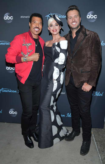 Lionel Richie, Luke Bryan and Katy Perry at the American Idol Finale on May 19th, 2019