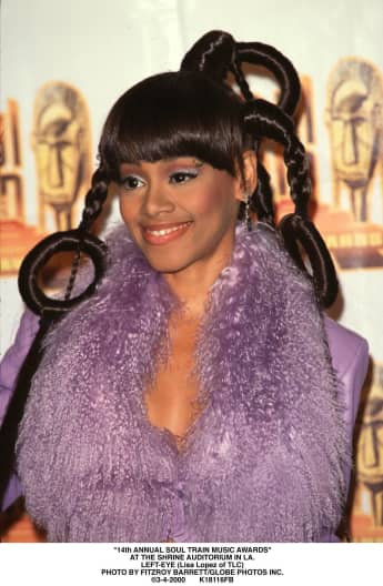 "Lisa ""Left Eye"" Lopes at the 14th Annual Soul Train Music Awards."