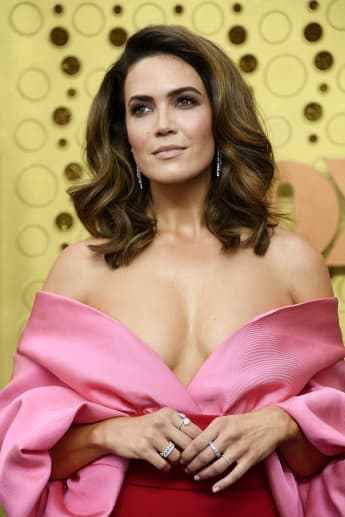 Mandy Moore arrives at the 71st Emmy Awards at Microsoft Theater on September 22, 2019