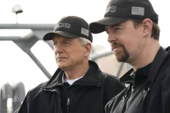 "NCIS Mark Harmon (""Gibbs"") and Sean Murray (""McGee"") January 2019"