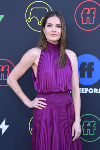Meghann Fahy arrives for the 2nd Annual Freeform Summit at the Goya Studios on March 27, 2019 in Los Angeles.