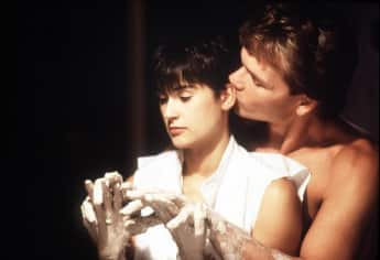 "Demi Moore and Patrick Swayze as ""Molly Jensen"" and ""Sam Wheat"" in Ghost"