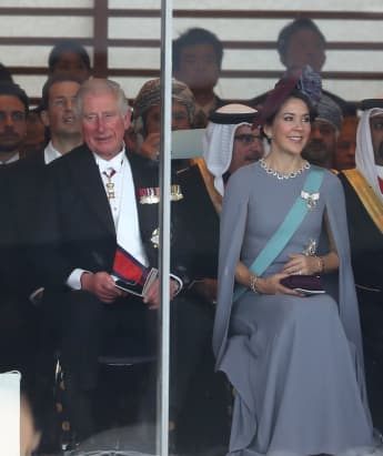 Prince Charles and Princess Mary of Denmark in Tokyo, Japan. Where was Camilla?