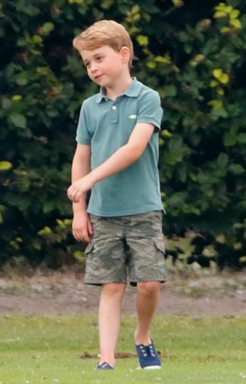 Prince George at the Royal Charity Polo Match in 2019