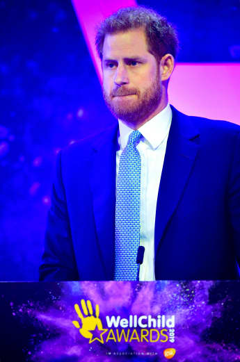 Prince Harry gets emotional while telling the story about how he found out Meghan was expecting baby Archie at the Well Child Awards.