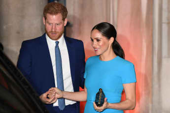 Prince Harry and Duchess Meghan in London on Thursday.