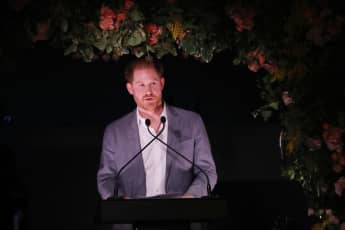 "Prince Harry expressed his ""great sadness that it's come to this"" at a charity dinner."