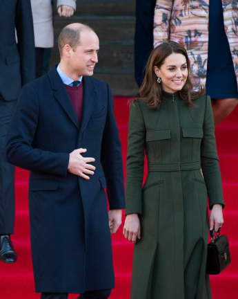 "Prince William says it's important to ""move forward"" at his first royal engagement in 2020."